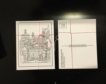 Set of 5 Nashville Postcards
