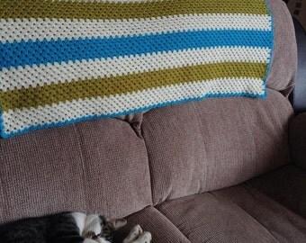Handmade crochet Granny Stripe blanket