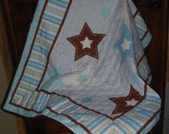 SALE-Celebration/Star/Birthday Boy Quilt