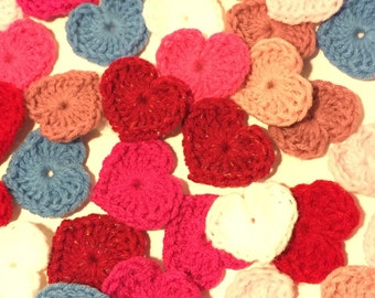 Crochet Appliqué Hearts (set of 12)