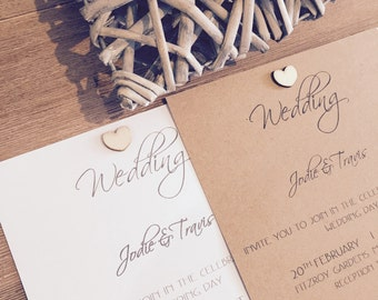 Personalised Wedding Engagement Invitation Set With Wishing Well, RSVP & Reception