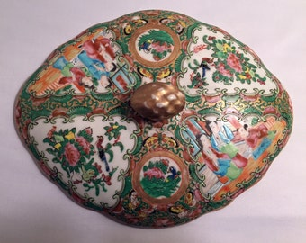 Antique Chinese Export - lid only for a bowl or turrine