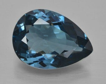 Masterpiece Collection: AAA Rated Pear Faceted Genuine (Natural) London Blue Topaz (6x4mm-12x8mm) 811-961