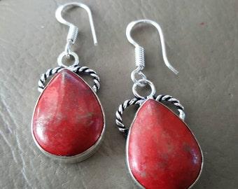 Red Jasper Gemstone Earrings!