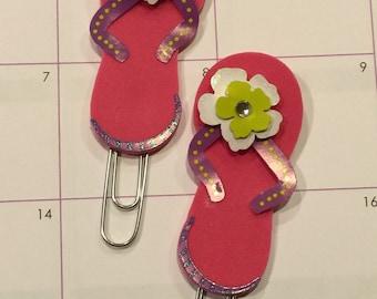 Pink flip flops paper clips