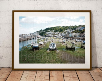 Looe Wall Decor, Looe Photo, Looe Decor, Looe Print, Looe Picture, Looe Home Decor, Looe Gifts, Nautical Office, Nautical Gifts, Cornish Art