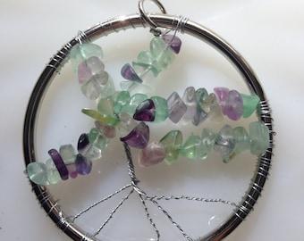 Fluorite Tree of Life Pendant