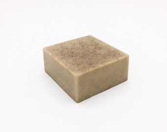 Solid Cleansing Bar // Organic Skin Care / Lavender Face Wash / Natural Facial Cleanser / Gentle Bar Soap / Goat's Milk Soap