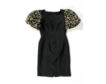 Short LBD - Black sleeves dress - Short Prom Dress - Little black dress - Formal dress - Dinner Party Dress - Evening Short Dress - LBD