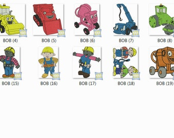 Machine Embroidery Bob the Builder - PES Format - 25 4 x 4 and 5x7 Hoop sizes