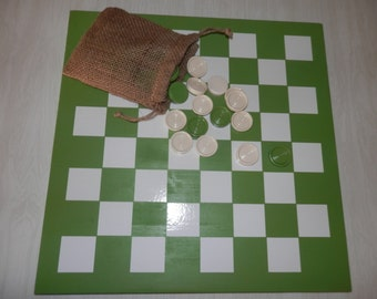 Country Checkerboard Game with White Vinyl