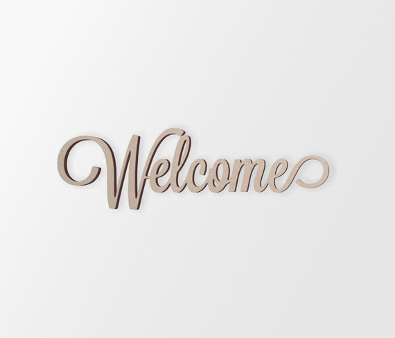 Word Art Home Decor: Wall Art Word Welcome Cutout Home Decor