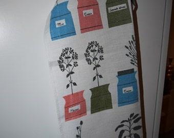 Tea Towel - Astrid Sampe - Linnelinjen - Almedalhs - Persons Kryddskåp - Sweden - Scandinavian - RETRO