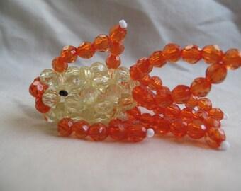 3-D beaded fish