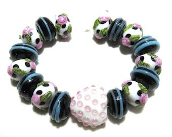 1 Strand Handmade Glass Lampwork Beads (B66-2)