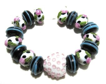 1 Strand Handmade Glass Lampwork Beads (B66d2)