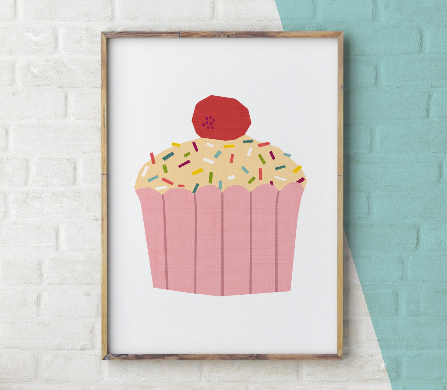 Cake Printable Cupcake wall art Cake Print kitchen art