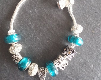 Bracelet charms, turquoise, woman, custom, tree of life pendant