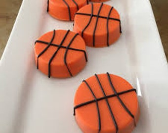 Basketball chocolate covered Oreo Cookies (12)/Party Favors