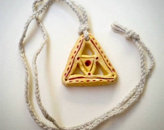 Yellow Ceramic Triangle Necklace