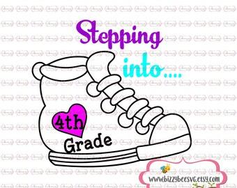 Fourth grade svg, DXF, EPS cut first grade cut file fourth grade svg  svg back to school svg school cut file svg back to school design