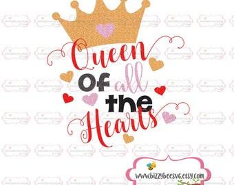 valentines SVG, DXF, EPS cut file valentine svg love svg queen svg queen of hearts svg sayings svg valentine printable valentines png
