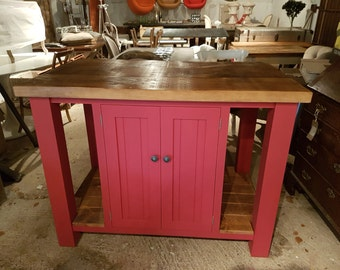 Hand made bespoke kitchen Islands supplied painted or bare wood