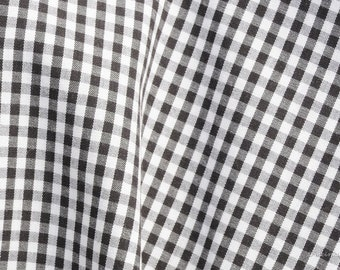 Vichy fabric black checkered 2.5 mm Eco-Tex standard 100