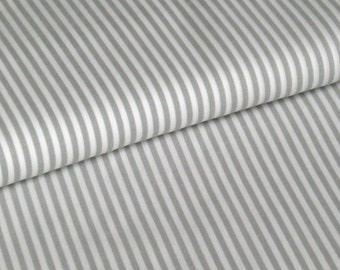 BW fabric Vichy stripe light grey 2,5 mm
