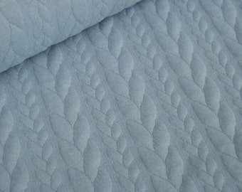 Jacquard Jersey light blue with cable pattern