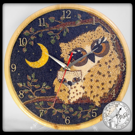 Wall Clock Owl Design : Wall clock owl ukraine lock by natalyandalex