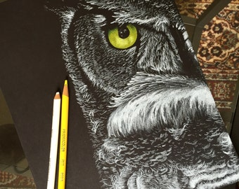 Owl Custom Drawing (not print/scanned)