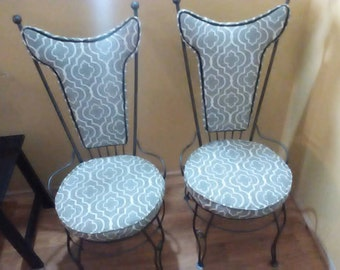 Vintage iron chairs