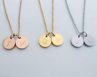 Personalized Necklace - Initial Necklace - Monogram Necklace - Bridesmaid Gift - Minimal Necklace - Gift For Her - Girlfriend Gift - Simple