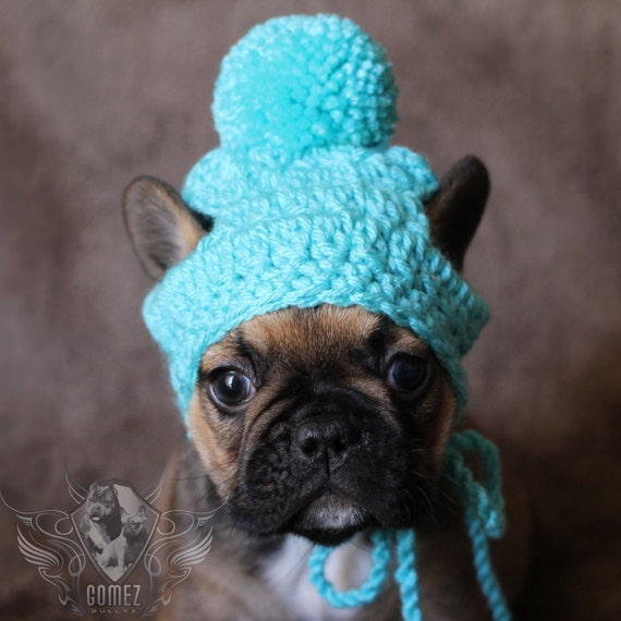 french bulldog hat french bulldog clothe puppy beanie pom pom hat dog clothes 8443