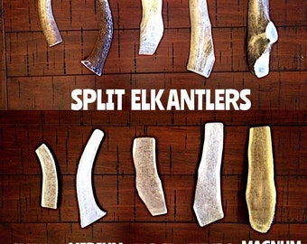 Split elk antler dog chew-free shipping! NEW SIZES!