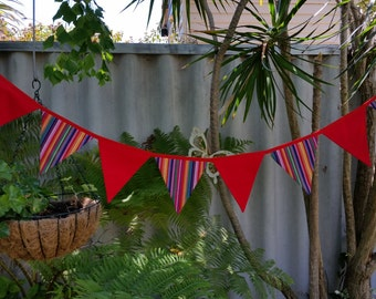 Mexican inspired bunting. Warm bold colours