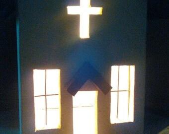 Primitive style church