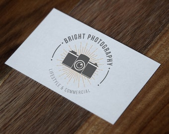 Premade Hipster Photographer Logo Badge Style - Digital Download
