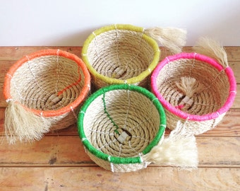 Digital Download Pattern for a Handy Sisal Rope Basket