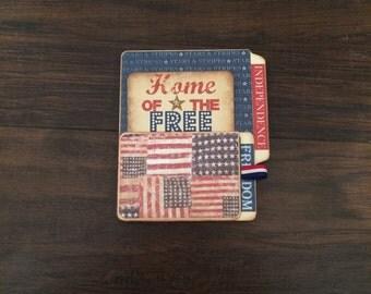 Handmade vintage scrapbook file folder mini album
