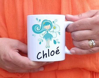 Custom mug fairy blue