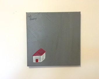Small Happy House Painting