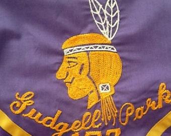 Missouri Boy Scouts Gudgell Park  Independence MO Troop 173 BSA Indian Neckerchief