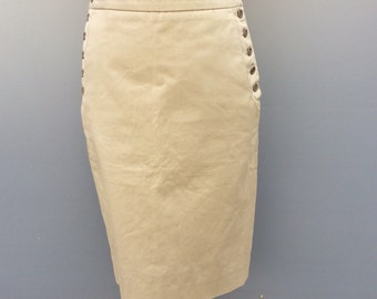 classic mulberry side button skirt | size 10