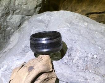 wooden ring midnight blue