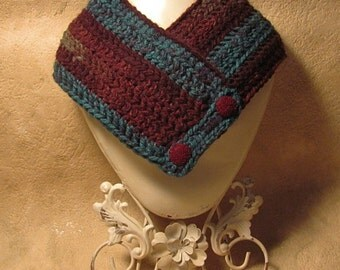 Hand Crocheted Neck Warmer  Free shipping