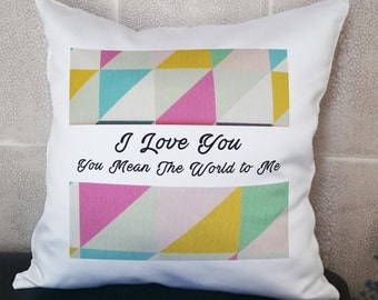 Best Friend Pillows, Friendship Pillow, Name Pillow,  Custom Pillow, Personalized Pillow, Quote Pillow, 14X14' (35X35cm) With Inner Cushion