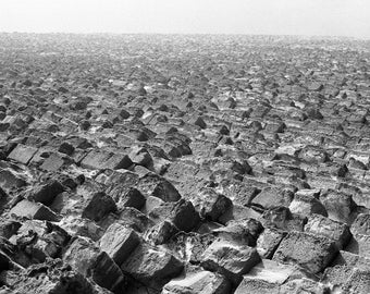 Cairo pyramid pyramids horizontal #1 SW photography fine art from 10 x 15 cm Retro Black and White Photography