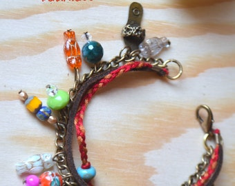 Bohemian Bracelet with different colourful beads